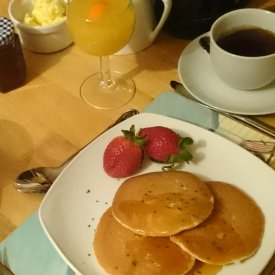 Homemade Pancakes with Maple Syrup
