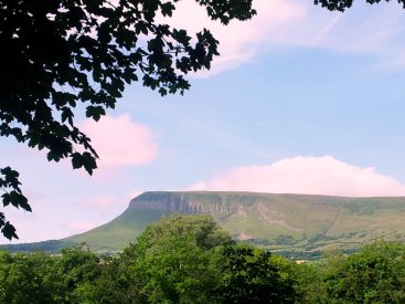 Benbulben from Yeats Grave