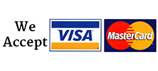 We accept Visa & Mastercard